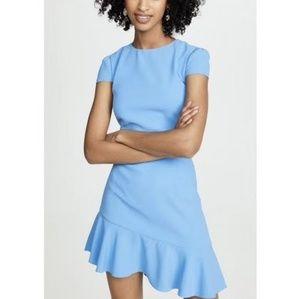alice + olivia  Fable Asymmetrical Ruffle Dress